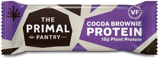 The Primal Pantry Cocoa Brownie Bar. 15g of high quality plant-protein.