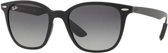 Ray Ban Unisex Sunglasses with a frame made of synthetic in black and lenses made of polycarbonate in gradient grey