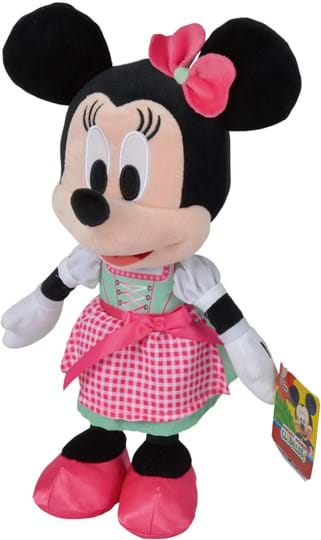 Disney The 25cm tall Bavarian Minnie wears a beautiful mint green Dirndl with a pink apron. This makes it a guaranteed eye-catcher at the Oktoberfest. Minnie is made of soft plush and is suitable for children from the first months of life.
