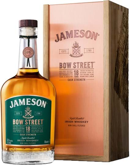Jameson 18 yo Bow Street, Wooden giftbox
