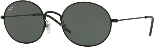 Ray Ban Unisex Sunglasses with a frame made of metal in black and lenses made of policarbonate standard in green