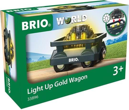BRIO, light up gold wagon