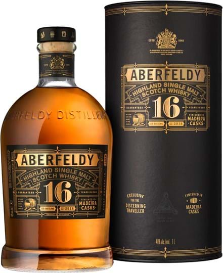 Aberfeldy, 16 YO, Madeira Casks, Single Malt Scotch Whisky, giftpack