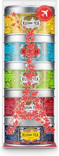 Kusmi Tea-gavesæt med 5 miniaturer med te og urtete 125g