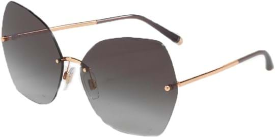 Dolce & Gabbana Women's Sunglasses with a frame made of metal in rosegold and lenses made of polyamide standard in gradient, grey