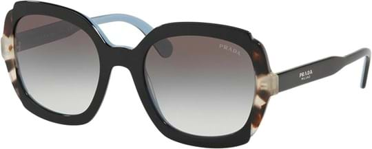 Prada Women's Sunglasses with a frame made of acetate in black and lenses made of polyamide standard in gradient, grey