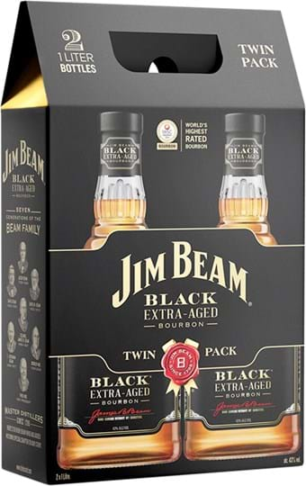 Jim Beam Black twin pack 43%