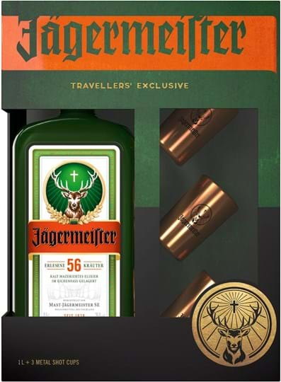 Jägermeister + 3 Metal Shot Cups