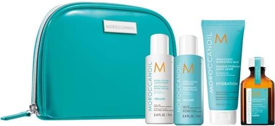 Moroccanoil Hair Destination Volume Travel Kit cont.: Extra Volume Shampoo 70 ml + Extra Volume Conditioner 70 ml + Weightless Mask 75 ml + Light Treatment 25 ml