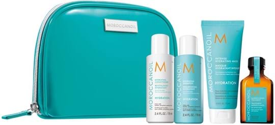 Moroccanoil Hair Destination Hydrate Travel Kit cont.: Hydrating Shampoo 70 ml + Hydrating Conditioner 70 ml + Intense Hydrating Mask 75 ml + Treatment 25 ml