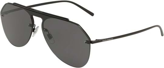 Dolce & Gabbana Men's Sunglasses with a frame made of metal in black and lenses made of polyamide in grey