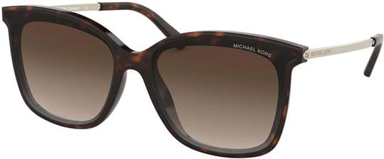 Michael Kors Women's Sunglasses with a frame made of acetate in brown and lenses made of polyamide in gradient, grey