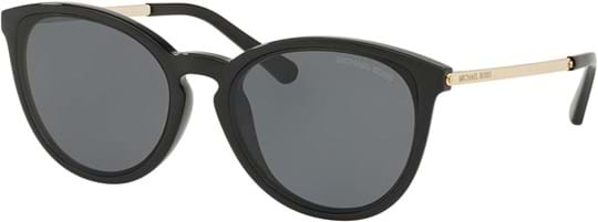 Michael Kors Women's Sunglasses with a frame made of acetate in black and lenses made of polyamide in grey
