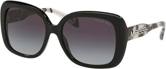 Michael Kors Women's Sunglasses with a frame made of acetate in black and lenses made of polyamide in gradient, grey