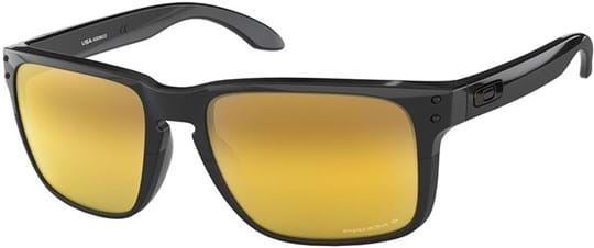 Oakley Men's Sunglasses with a frame made of plastic in black and lenses made of polyamide in polarized, gold