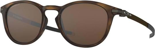 Oakley Men's Sunglasses with a frame made of plastic in brown and lenses made of crystal in polarized, brown
