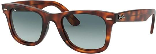 Ray Ban Sunglasses with a frame made of metal in brown and lenses made of polyamide in gradient, blue
