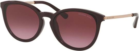 Michael Kors Women's Sunglasses with a frame made of acetate in bordeaux and lenses made of polyamide in gradient, bordeaux