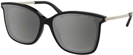 Michael Kors Women's Sunglasses with a frame made of acetate in black and lenses made of polyamide in gradient, mirror, polarized, grey