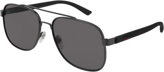 Gucci Web Men's Sunglasses with a frame made of plastic and lenses made of plastic