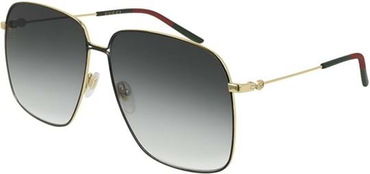 Gucci Logo Women's Sunglasses with a frame made of metal and lenses made of plastic