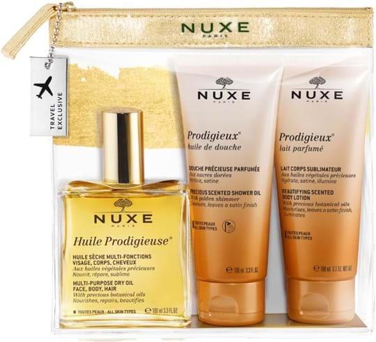 Nuxe Skincare Set Set cont.: Huile Prodigieuse 100 ml (GH 1241126) + Prodigieux Moisturising Body Lotion 100 ml + Prodigieux Shower Oil 100 ml (for free)