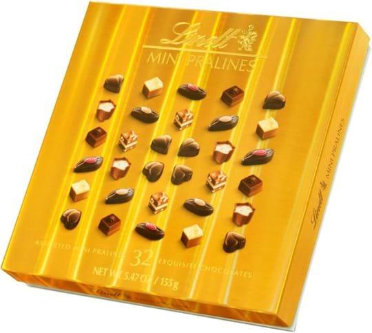 Lindt Pralines Mini Pralines Box Gold