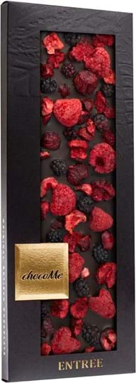 ChocoMe Chocolate bar with red berries in a box