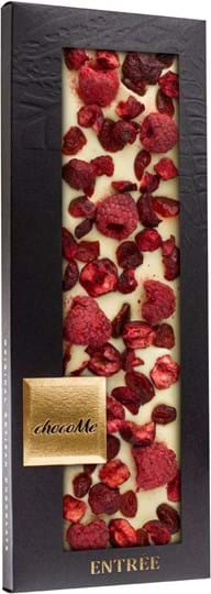 ChocoMe Chocolate bar with white chocolate and cranberries in giftbox