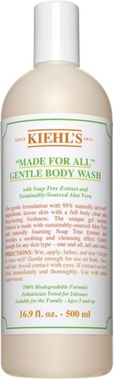 Kiehl's Made for All – skånsom, rensende kropssæbe 500 ml