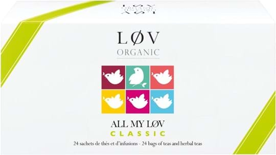 Lov Organic Assortment of flavoured teas, herbal teas and fruit infusions - Organic