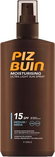 Piz Buin Ultra Light Sun Spray Sun Lotion SPF 15 200 ml