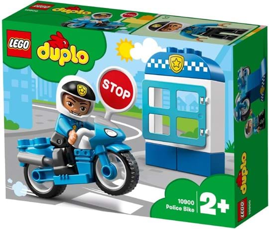 Play out real-life scenarios in LEGO® DUPLO® Town: a recognizable world with modern DUPLO figures. Toddlers will love zooming through town on the 10900 Police Bike!
