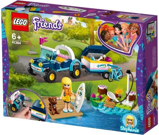 LEGO, LEGO Friends, stephanie's buggy & trailer