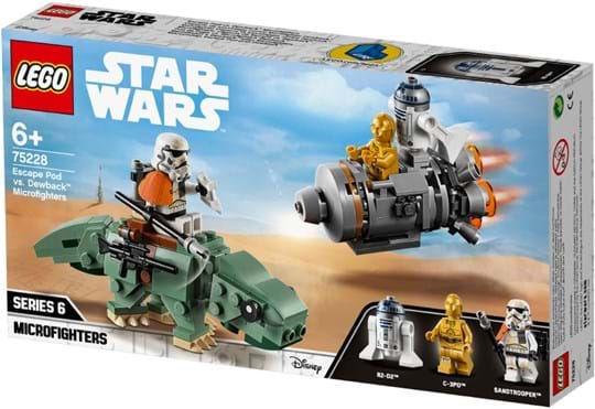 LEGO, Star Wars Escape Pod vs. Dewback Microfighters
