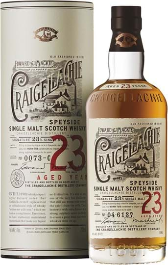 Craigellachie 23 YO, Single Malt Scotch Whisky, giftpack