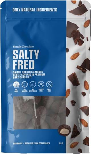 Simply Chocolate Salty Almonds 100g