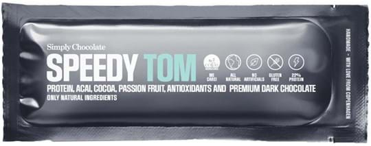 Simply Chocolate Protein bar with cocoa, passion fruit, acai and dark chocolate (60%) 40g