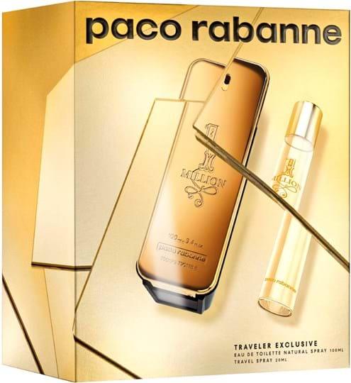 Paco Rabanne 1 Million Set cont.: Eau de Toilette 100 ml (GH 984701) + Travel Spray 20 ml (for free)
