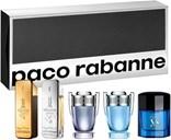 Paco Rabanne Coffret-skrin indeholder: 1 Million Edt 5 ml + 1 Million Lucky 5 ml + Invictus 5 ml + Invictus Aqua 5 ml + Pure XS 6 ml
