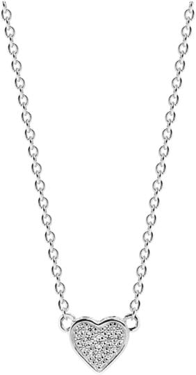Sif Jakobs Necklace Amore Uno with white zirconia