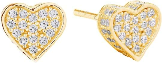 Sif Jakobs Earrings Amore - 18k gold plated with white zirconia