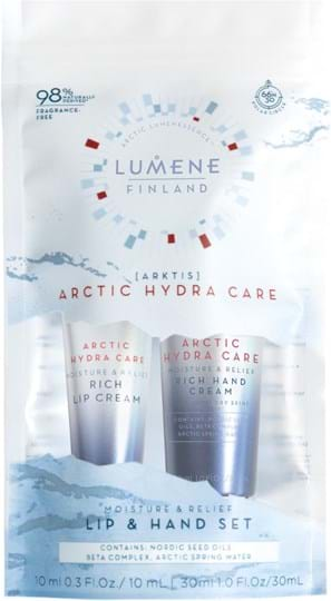 Lumene Actic Hydra Care (Arktis) Set cont.: Moisture and Relief Set Lip Cream 10ml + Hand Cream 30ml