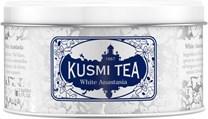 Kusmi Tea WHITE ANASTASIA: Appelsinblomstsmag i hvid te med bergamot - 90 g metaldåse