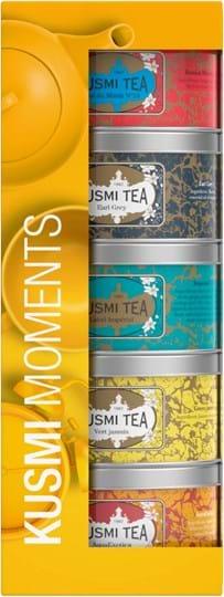 Kusmi Tea-gavesæt indeholdende 5 miniatureudgaver af te med smag og urtete