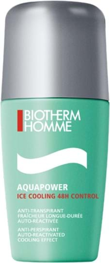 Biotherm Homme Aquapower Ice Cooling 48H Control Roll-on Deodorant 75 ml