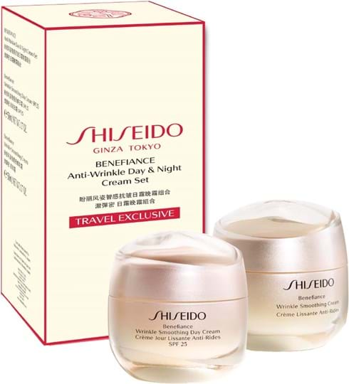 Shiseido Benefiance BNF Anti-wrinkle Day and Night Set cont.: BNF Wrinkle Smoothing Day Cream SPF25 + BNF Wrinkle Smoothing Cream