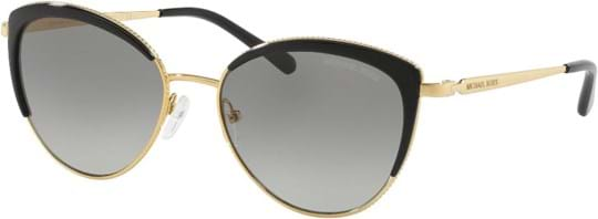 Michael Kors Sexy Women's Sunglasses with a frame made of metal in gold and lenses made of plastic in grey gradient