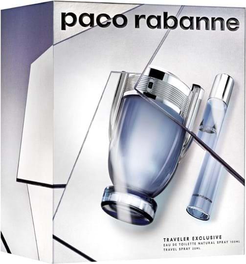 Paco Rabanne Invictus-sæt bestående af: Eau de Toilette 100 ml (GH 1044139) + rejsespray 20 ml (gratis)