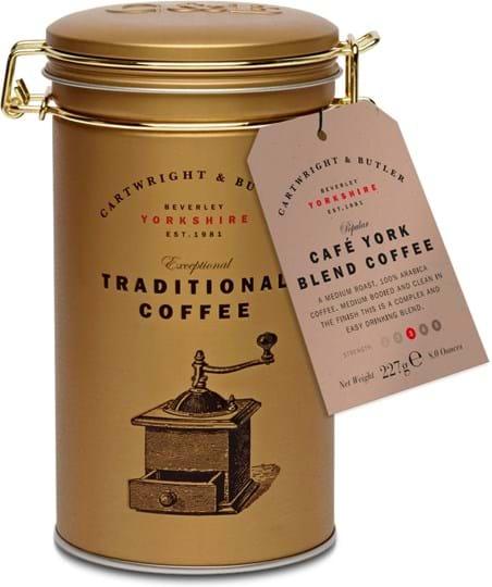 Cartwright&Butler Café York Blend Coffee i dåse med låg 227g